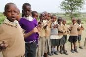 Kenyan primary school children
